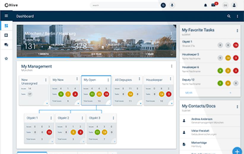 Innovative Benutzeroberfläche für die Immobilienverwaltung